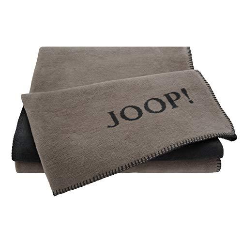Joop! Plaid Uni-Doubleface   Taupe-Anthrazit - 150 x 200 cm