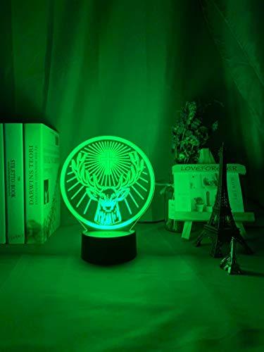 Sanzangtang Led-nachtlampje, 3D-visionzeven, kleuren-afstandsbediening, nachtlampje, kleurrijke sfeer, afstandsbediening, werkt op batterijen, voor het decoreren van schrijftafelplaatjes, babynachtlampje