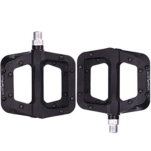 Teerwere Bike Pedals Mountain Bike Pedal Road Bike Bicycle Accessories Black Bicycle Pedal for Bike Lightweight Bicycle Pedals (Color : Black, Size : One Size)