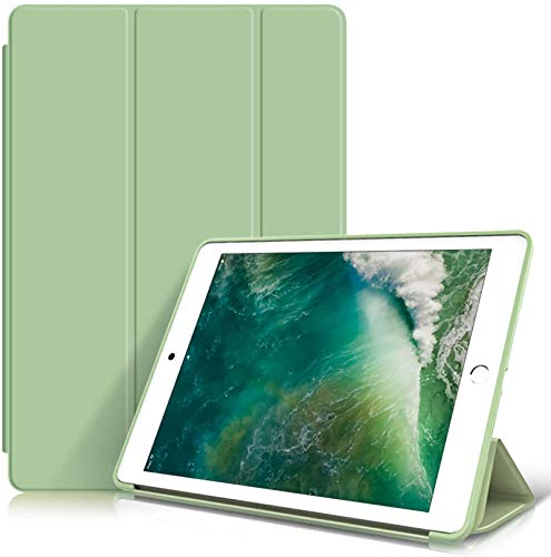 Miwaimao Case for iPad, Soft TPU Back Cover Slim Smart Shell, Auto Wake/Sleep,iPad Air1/2(Pink),IPad Air 10.5(Green)