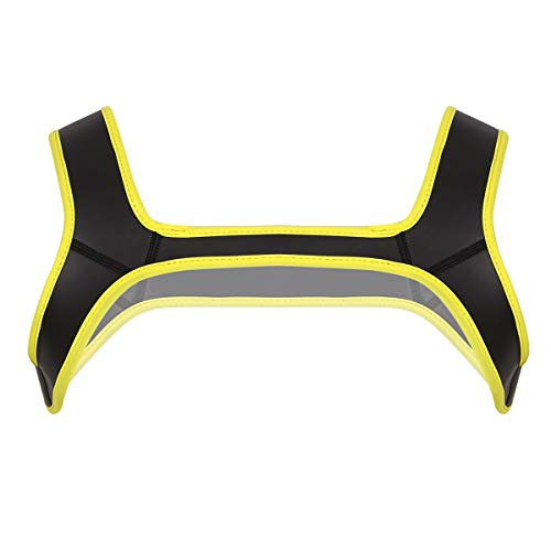 Agoky Ropa Erótica para Hombre Camiseta Interior de Neopreno Arnés de Pecho Cosplay Sexy Crop Top Vendaje Cinturón Músculo Traje Noche