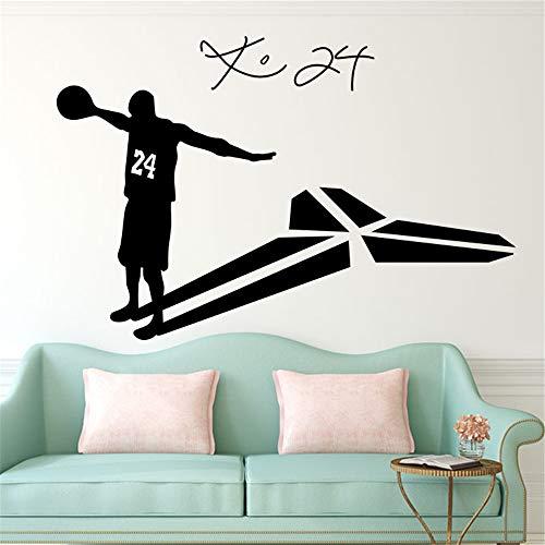 Kobe Bryant Muursticker Kobe Bryant 24 Basketbal Speler Woonkamer Glazen Muurstickers Huisdecoratie Woonkamer Decoratie Chanel Oorbellen BTS Stickers 35.1x23.4