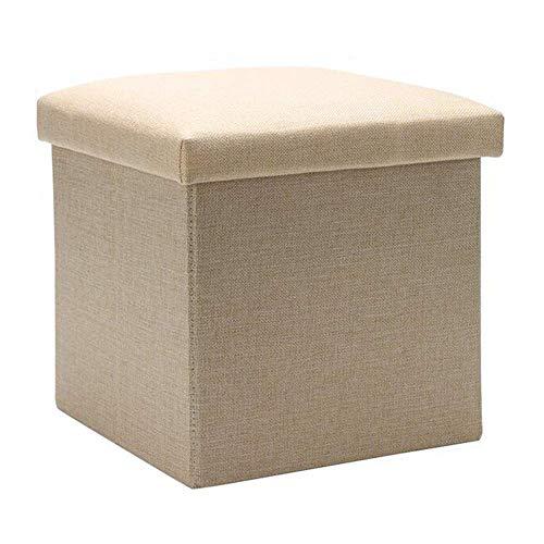 GPWDSN Voetenbank met opbergkruk Opvouwbare schoen Bench Cubes Box Sofa Kruk Multifunctionele Max belasting 150kg Beige