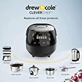 Drew&Cole CleverChef 14-in-1 Intelligent Digital Multi Cooker, Aluminium, 860 W, 5 Litre, Charcoal