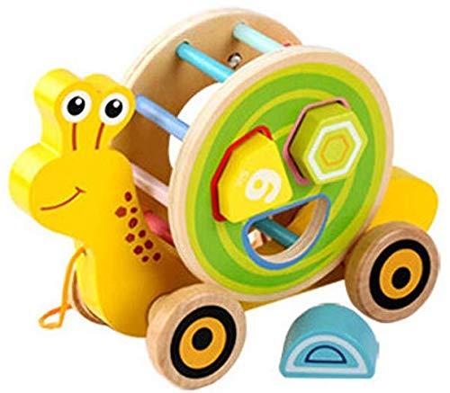 Wosiky Baby Spielzeug Holzform Puzzle Schnecke Trolley Lernspielzeug Balance Spielzeugform Sortierer für Kleinkinder