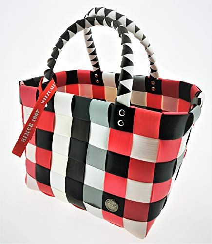 Witzgall Ice Bag Einkaufskorb Mini Einkaufstasche Shopper Einkauf-Korb Flecht-Korb geflochten Einkaufsshopper