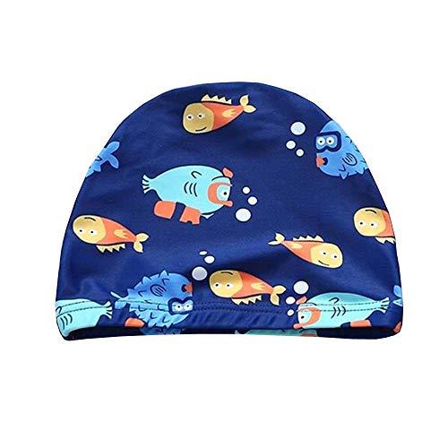 スイムキャップ キッズ 水泳キャップ キッズ 伸縮性良い 水泳帽キッズ 男の子 幼児 水泳帽こども 水泳帽キッズ UVカット 滑りにくい 魚 3−15歳