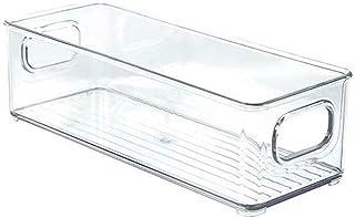 LYBT Organisateur de réfrigérateur Boîte de Rangement pour bocaux de Fruits Transparents avec poignée (Couleur : Petit)