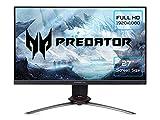 Acer Predator XB273GX - Monitor Gaming de 27' Full HD 240 Hz (1920 x 1080, Pantalla IPS LED, NVIDIA G-Sync, ZeroFrame, ComfyView, 400 nits, 240Hz, Tiempo de Respuesta 1 ms, 2xHDMI) - Color Negro