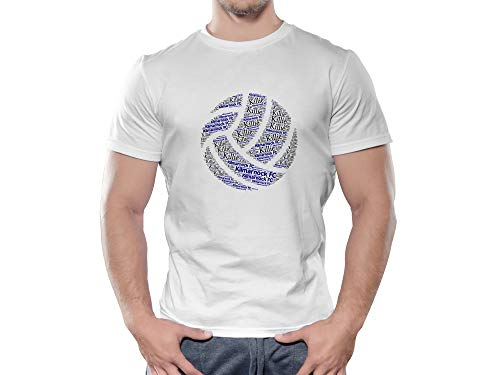 Kilmarnock FC Novelty Football Ball T Shirt, (Large)