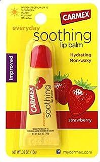 Carmex Strawberry Flavor Everyday Soothing Lip Balm SPF 15 Tube 0.35 oz (10 g)