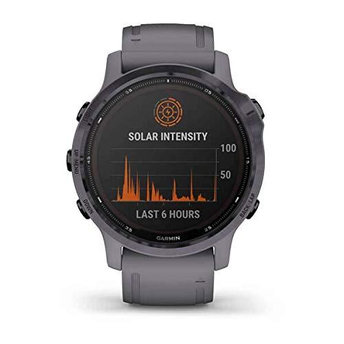 Garmin fēnix 6S Pro Solar, Montre GPS Multisports à énergie Solaire, fonctionnalités et données de Formation avancées 010-02409-15