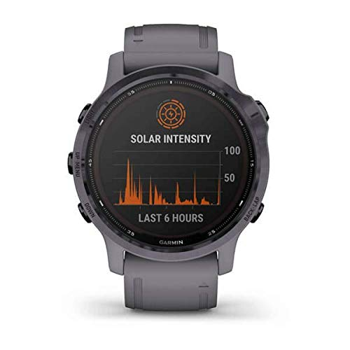 Garmin fēnix 6S Pro Solar, Reloj GPS Multideporte con energía Solar, características y Datos de Entrenamiento avanzado 010-02409-15