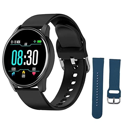 Pulsera Inteligente Sraeriot Inteligente Relojes De Silicona Deportes Zl01 Con Azul De Repuesto Correa Rastreador De Ejercicios De Ritmo Cardíaco Prueba Podómetro Hombres Negro