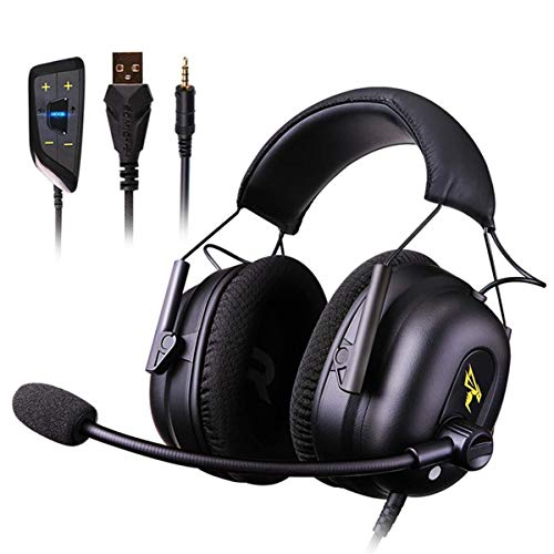 Headphones Over Ear Headphones 7.1 Surround Sound Gaming Headset Works with PC, for PS4 PRO, Xbox one S,Cell Phone Active Noise Canceling with HI-FI USB Jack Game Earphones (Universal Computer Ph