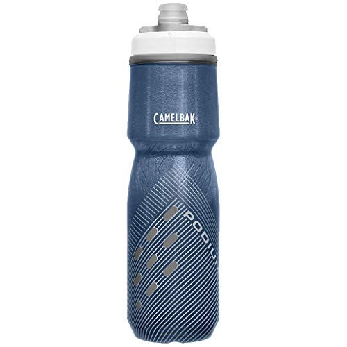 CAMELBAK Podium Chill Bottle - Perforated Dark Blue, 710ml/Cool Cold Insulated Water Flask Vessel Bidon Gym Sport Cycling Cycle Ice Jacket Mountain Bike Ride Drink Hydration Reusable Plastic BPA Free