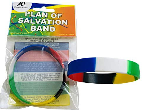 Plan of Salvation Bracelet Silicone Band Holy Christian Gift, Set of 2