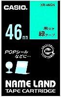 カシオ ネームランドテープ XR-46GN 00031129 【まとめ買い3個セット】