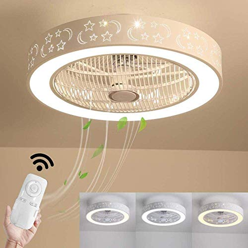 N / A con Ventilador de Techo de iluminación LED Cuchilla Moderno Regulable Ocultos a una Distancia a la Parte Inferior de la lámpara empotrada Fandelier Cerrado el Perfil, el Viento de.