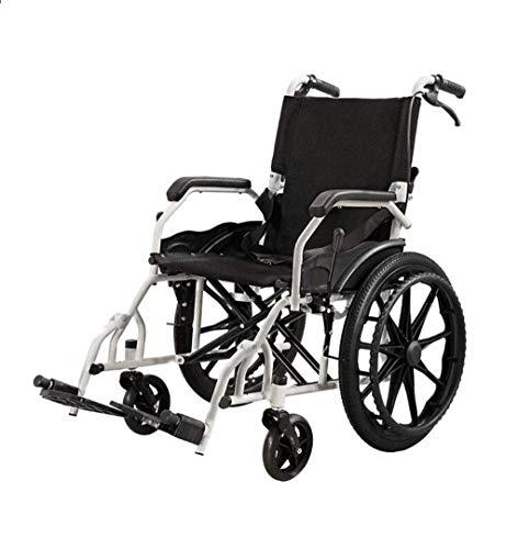ZHJQTIE Ende Licht Rollstuhl, Mit Dem Beweglichen Arm Zurück, Den Ganzen Arm Gekippt Werden Kann Beinauflage Angehoben Und Abgesenkt Wird, Um Den Sitz 20 Zoll Schwarz