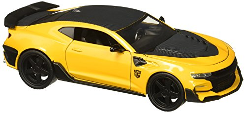 Jada Toys-Chevrolet Camaro-Transformers 5Bumblebee - 1:24, Amarillo/Negro
