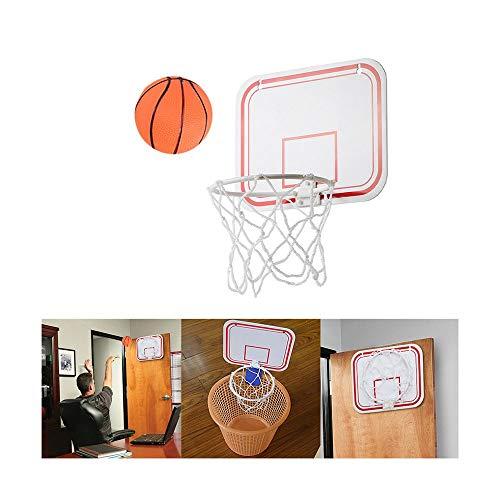 DDL Mini Basketballkorb mit Bälle und Pumpe, Mini Büro Basketballkorb mit Saugnapf Sport Basketball beim Büro Zimmer für Kinder