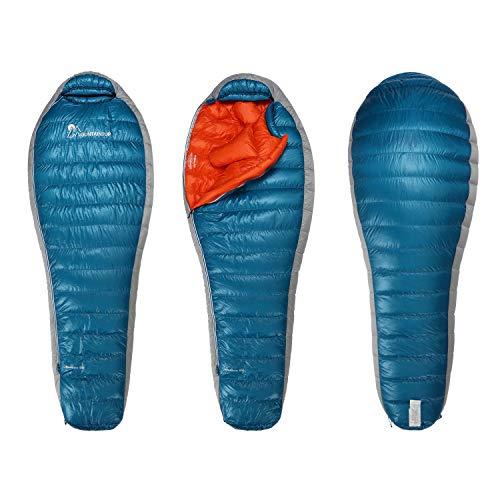 MOUNTAINTOP 600 g/800 g Daunenschlafsack (600 g), Blau