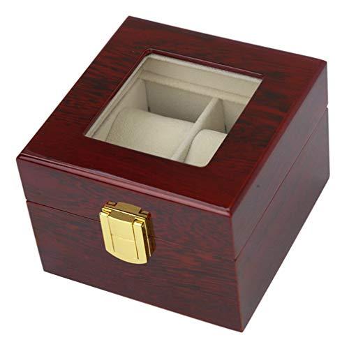 V.JUST 2 Grids Solid Wooden Watch Box Jewelry Display Organizer Case Luxury Watches Bracelet Holder Storage