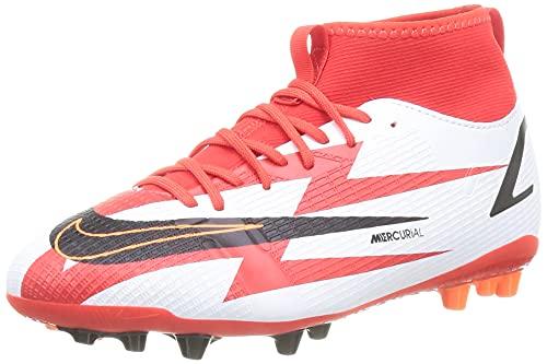 Nike Jr. Mercurial Superfly 8 Academy CR7 AG, Zapatillas de ftbol, Chile Red Black White Total Orange, 37.5 EU