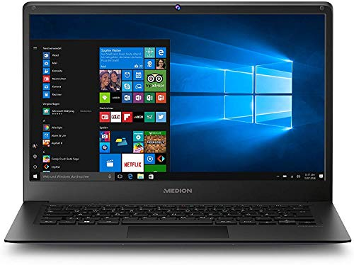 MEDION E4241 35,6 cm (14 Zoll) Full HD Notebook (Intel Atom x5-Z8350, 2GB RAM, 64GB Flash-Speicher, Intel HD-Grafik, Win 10 Home)