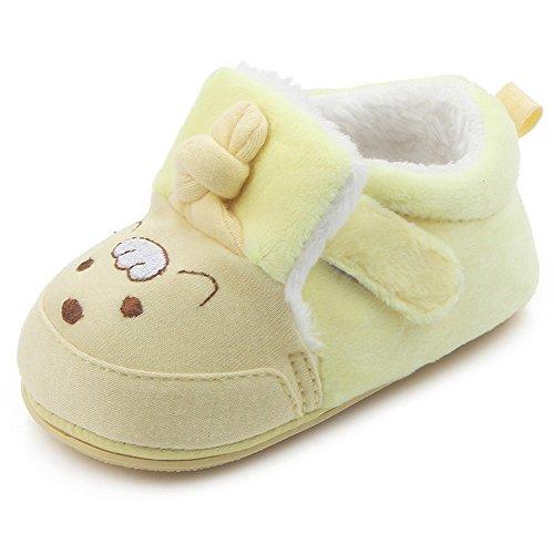 KINDOYO Bebé Infantil del bebé del niño de Suave cálido Peluche Zapatilla Primeros Pasos Zapatos