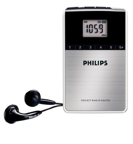 Philips AE6790/00 - Radio de bolsillo (sintonizador FM/OM, reloj integrado), color negro