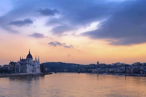 KCHUEAN 1000 Piezas Rompecabezas Decoracion De Muebles Río Danubio En Budapest De Madera Montaje Personalizado