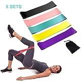 Bandas Elasticas Musculacion, 5 Piezas, Bandas De Resistencia Para Yoga, Pilates, Crossfit, Estiramientos, Musculacion, Piernas, Brazos, Fuerza