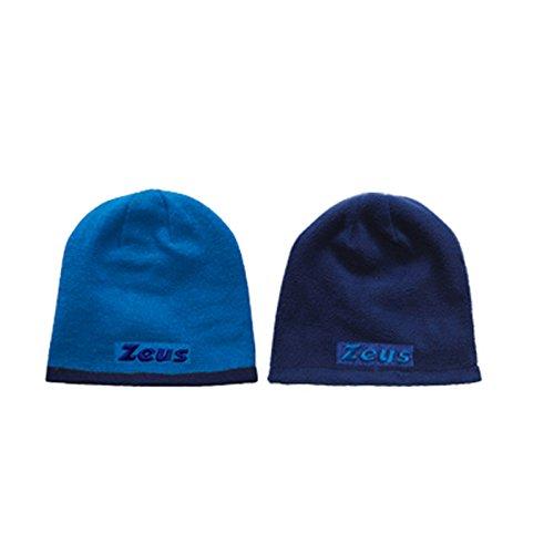 Zeus Bonnet d'hiver en tricot réversible Taille unique, bleu roi (Bleu) - BIKOLOR CAP ROYAL-BLUE