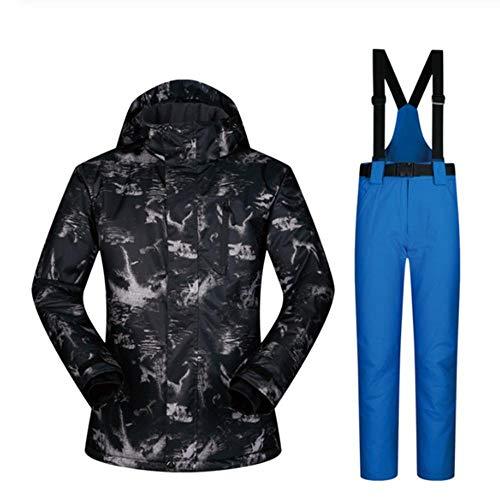 SHYSBV Skipak voor heren, waterdicht, winddicht, jas en skibroek, sneeuwpak voor heren X-Large
