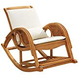 SuDeLLong Silla Mecedora Silla de Mimbre sillón reclinable