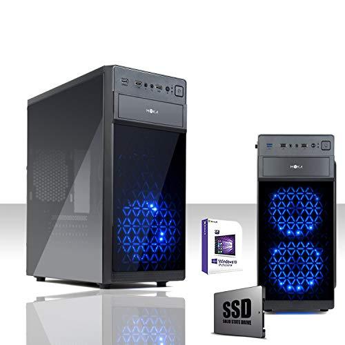GAMMA PC SUPER SPEED SSD 240GB - PC DESKTOP INTEL QUAD CORE CASC02 LED BLU CON LICENZA WINDOWS 10 PROFESSIONAL ORIGINALE/WIFI/SSD 240GB SATA III STATO SOLIDIO /RAM 8GB DDR3 1600MHZ