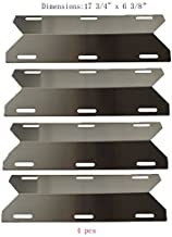 SP1231 (4-pack) Stainless Steel Heat Plate, Heat Shield, Heat Tent, Burner Cover, Vaporizor Bar, and Flavorizer Bar for Costco Kirland, Glen Canyon, Jenn-air, Nexgrill, Sterling Forge, Lowes Model Grills
