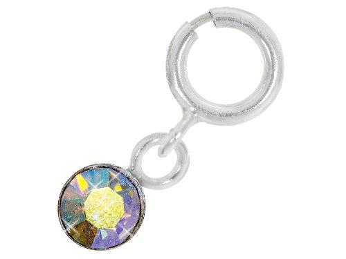 Nagelpiercing Silber Mit Stein Irisierend - 925 Sterling Silber - Nailart Finger Fuß