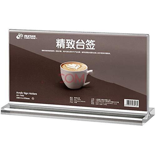 FGDH&SDF 10 Stücke T-Typ Taiwan Zeichen Vertikale Kartenhalter Grafikkarte Tabelle Menü Tabelle Karte, 200 * 100 Mm