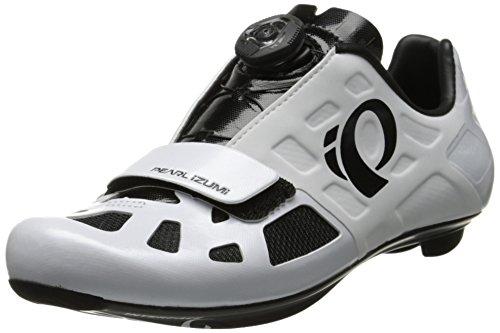 Pearl Izumi Elite Rd IV de la Hombres Zapatillas de ciclismo para, Blanco (Blanco/Negro), 39.5 M EU / 6.5 C US