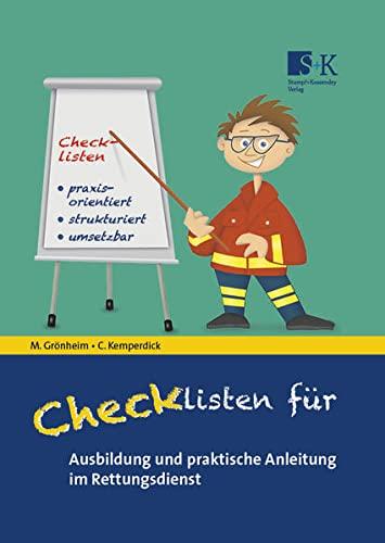 Checklisten für Ausbildung und praktische Anleitung im Rettungsdienst