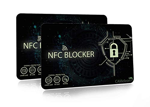 NFC Blocker I RFID Blocking Card I für EC-Karten, Kreditkarten, Ausweise (2 Stück)