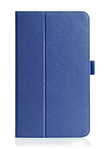 ISIN Premium PU-Leder Schutzhülle Tasche Stand Cover für Huawei MediaPad M3 Lite 8.0 CPN-W09 CPN-AL00 Tablet PC(Blau)