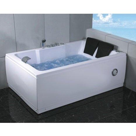Bagno Italia Vasca da bagno idromassaggio 185x120 cm 2 persone 14 getti radio cromoterapia I