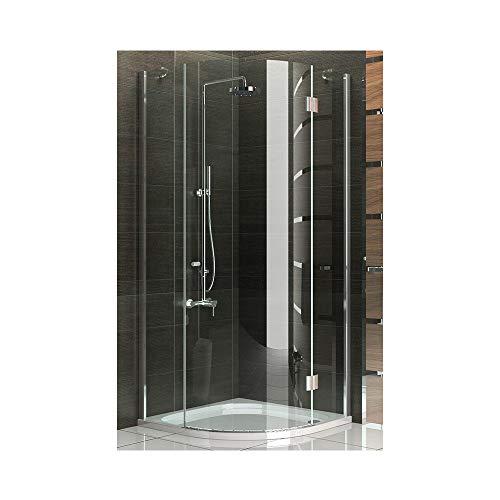 Cabina de ducha Cuarto Círculo Cristal Mampara 90x 90X200cm/Marco los ducha completo...