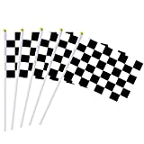Racing Checkered Flag on Plastic Stick,Hand Stick Flag,50 Pack Racing Pennant Banner Flags,Black & White Stick Flag,Decorations Supplies,Race Car Party,Sport Events