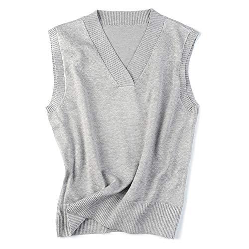 Vrouwen Sweater Vest Mouwloze Jumpers Losse V-hals Pullover Tops Plus Size Gebreide Gilet Vest