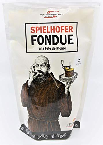 schweizer FONDUE FERTIGMISCHUNG mit Tete de Moine, Gruyere, Bergkäse, Cremeux, Weißwein ca. 600g